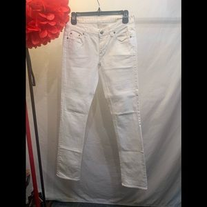 Matchstick White Jeans
